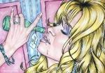 Alice in Wonderland,#7, 2016, Mischtechnik/Papier,45x65cm