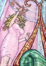 Alice in Wonderland,#8, 2016, Mischtechnik/Papier,65x45cm