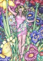 Alice in Wonderland,#18, 2016, Mischtechnik/Papier,65x45cm