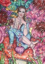 Alice in Wonderland,#21, 2016, Mischtechnik/Papier,65x45cm