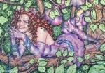 Alice in Wonderland,#32, 2016, Mischtechnik/Papier,45x65cm
