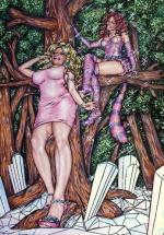 Alice in Wonderland,#34, 2016, Mischtechnik/Papier,65x45cm