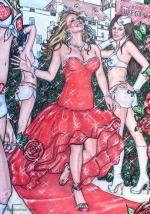 Alice in Wonderland,#43, 2016, Mischtechnik/Papier,65x45cm