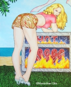 Hot Dog, 2007, Acryl/Leinwand, 150x120cm