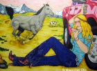 Cowbowys And Angels 2, 2006, Acryl/Leinwand, 140x190cm