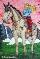 Cowboys And Angels 5, 2006, Acryl/Leinwand, 175x120cm