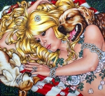 Saint Tropez II, 2018, Acryl/Molino, 120 x 130 cm