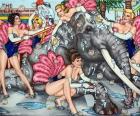What A Circus!, 2013, Acryl/Leinwand, 100x120cm