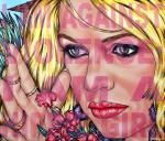 I Am Against Violence: I Am A Hippie Girl (BB), 2021, Acryl/Molino, 110 x 130 cm