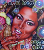 Frozen Delights 2020, Acryl/Molino, 80 x 70 cm